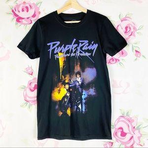 NEW Prince Purple Rain Retro Graphic Tee Shirt